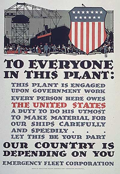 WWI propaganda poster - To Everyone in this Plant