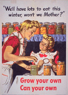 WWII propaganda poster - Grow Your Own, Can Your Own