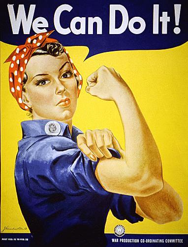 WWII propaganda poster - We Can Do It - Iconic Rosie the Riveter poster